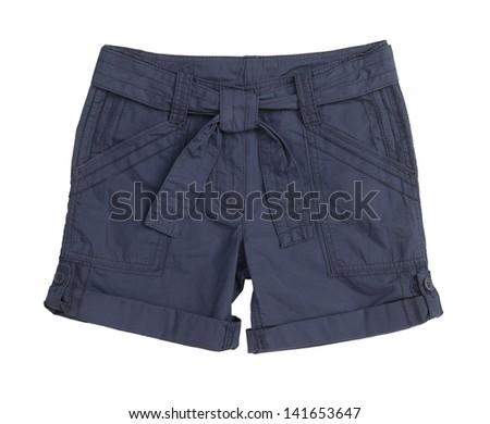 female shorts isolated on white background - stock photo