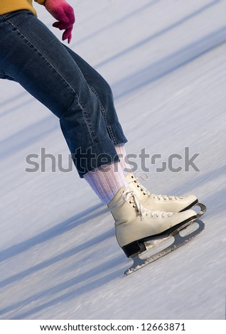 female skater - stock photo