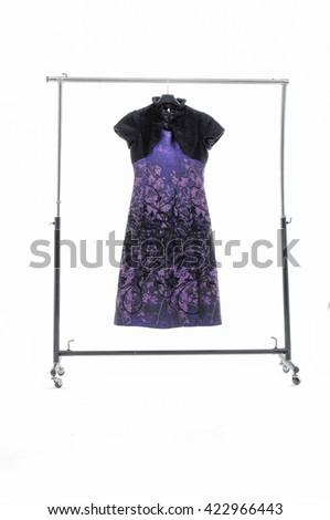 Female sundress clothing on hanging  - stock photo
