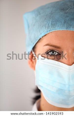 Female surgeon - stock photo