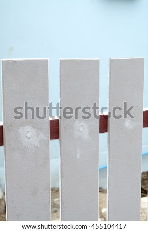 fence architecture unfinished on construction site - stock photo