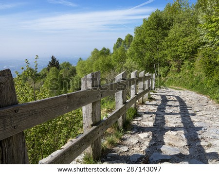Fence in the alps - stock photo