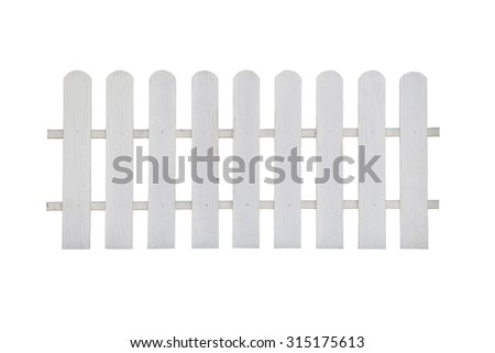 fence wood on white background with clipping paths. - stock photo