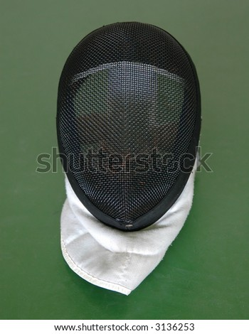 Fencing mask - stock photo
