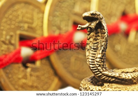 Feng shui year of the snake - stock photo