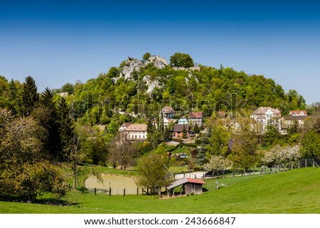 Ferette in Alsace - stock photo