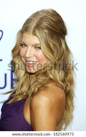 Fergie at Clive Davis Pre-Grammy Party, Beverly Hilton Hotel, Los Angeles, CA, February 09, 2008 - stock photo