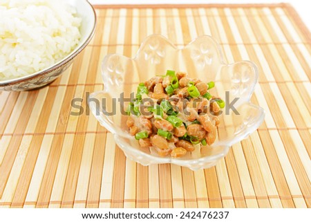 Fermented soybeans with rice - stock photo