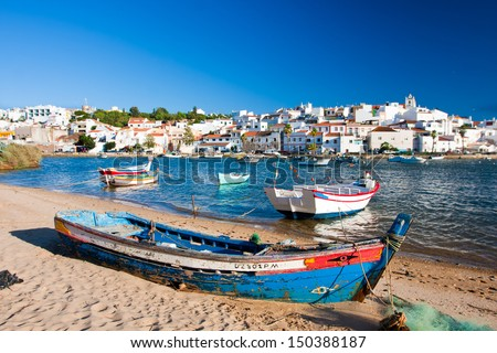 Ferragudo, Portugal. - stock photo