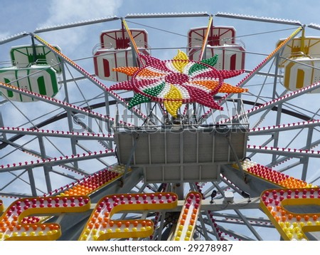 Ferris Wheel at Steel Pier at Atlantic City - stock photo