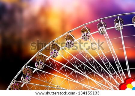 Ferris Wheel At Sunset - stock photo