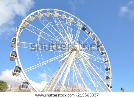 Ferris Wheel at the Victoria and Albert Waterfront – Cape Town, South Africa - stock photo