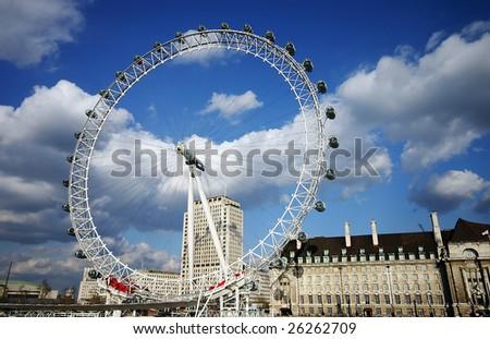 Ferris Wheel in London - stock photo