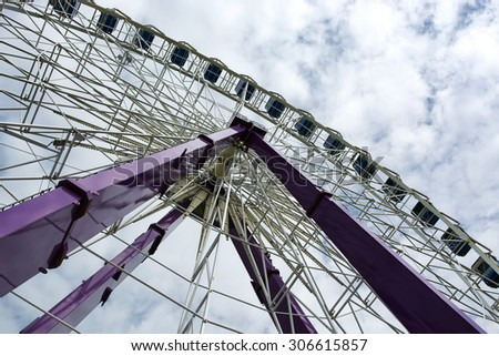 Ferris Wheel in Siofok at Lake Balaton, Hungary - stock photo