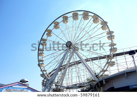 Ferris Wheel, Indiana Beach Amusement Park - stock photo