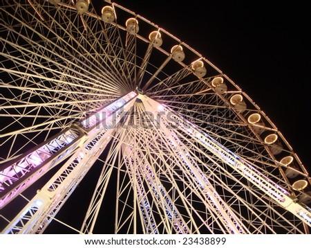 Ferris Wheel near the Louvre in Paris, France - stock photo
