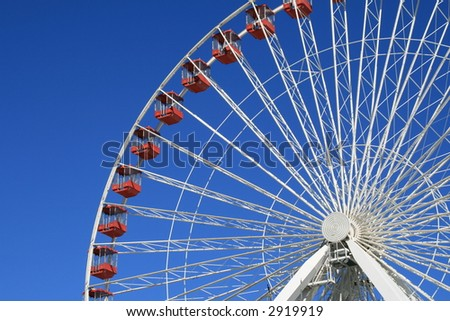 Ferris Wheel Ride at the Navy Pier, Chicago - stock photo