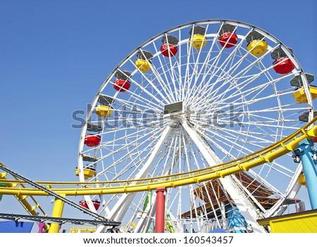 Ferris Wheel / Theme Park - stock photo