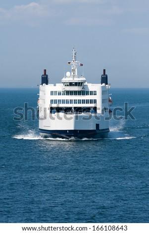 Ferry between Puttgarden (D) and Rodbyhavn (DK) - stock photo