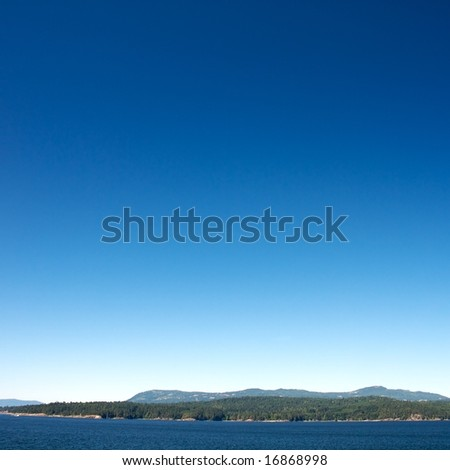 Ferry ride from Vancouver to Victoria through the vancouver islands - stock photo