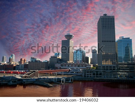 Ferry terminal at Waterfront in Vancouver, BC, Canada - stock photo