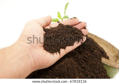 Fertile soil is at hand; - stock photo