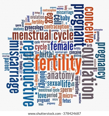 Fertility in word collage - stock photo