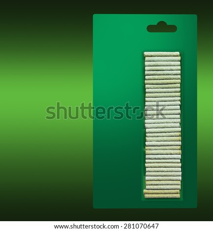 Fertilizers pellets package for plants - stock photo