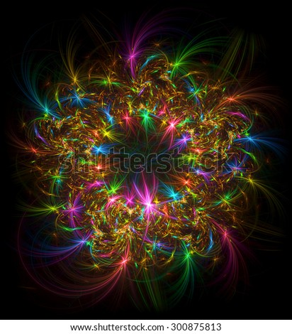 Festival of Lights abstract illustration - stock photo