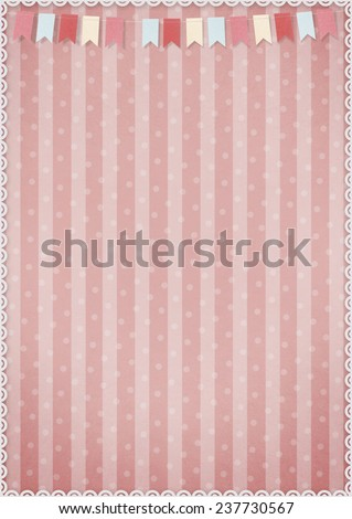 Festive background for greeting card with flags - stock photo