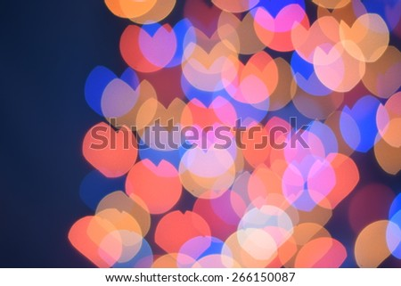 Festive background with defocused lights, Bokeh , Lighten, Line of light - stock photo
