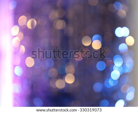 Festive blur background, twinkled bright with bokeh defocused lighting - stock photo
