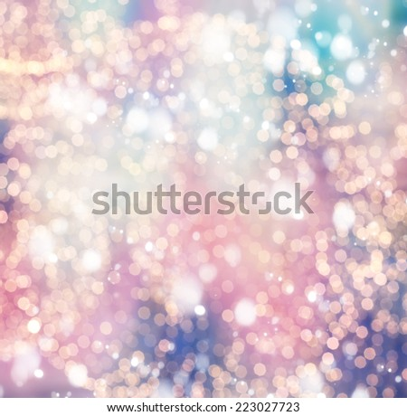 Festive Christmas background of defocused decorated xmas  - stock photo
