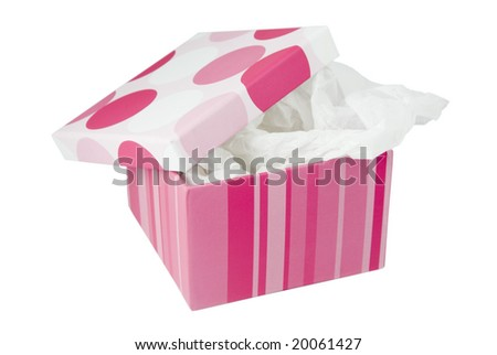 Festive gift box - stock photo