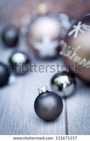 festive glitter christmas decoration bauble seasonal winter holidays - stock photo