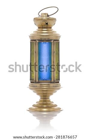 Festive Ramadan Lantern Isolated on White Background - stock photo