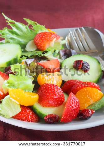 Festive salad for the holidays - stock photo