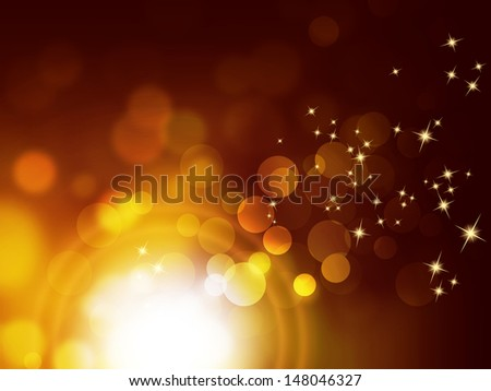 Festive sparkle background - bokeh design - stock photo