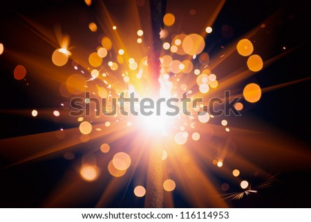 festive sparks background - stock photo