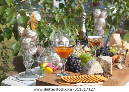 Festive table - stock photo
