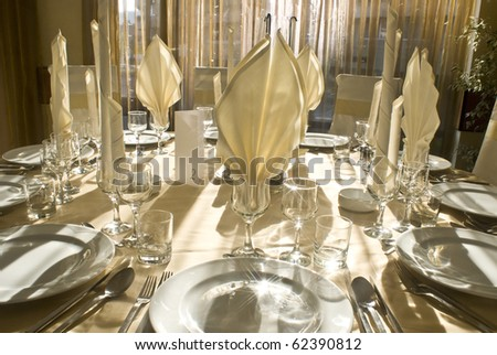 Festive table - stock photo