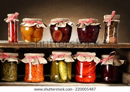 few jars  - stock photo