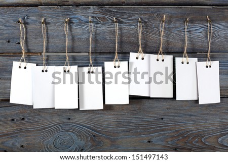 few white labels  - stock photo