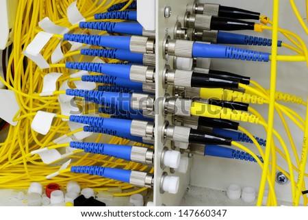 fiber Network Server - stock photo