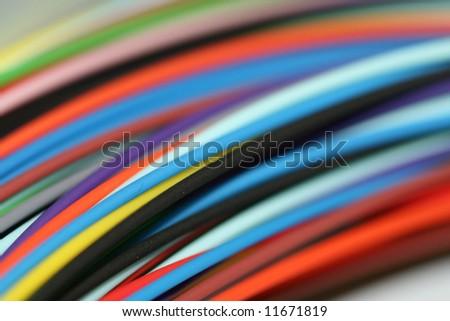 Fiber optic cable wire - stock photo