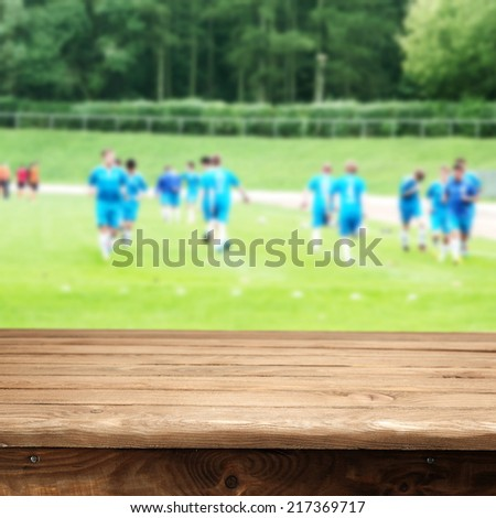 field and sport  - stock photo