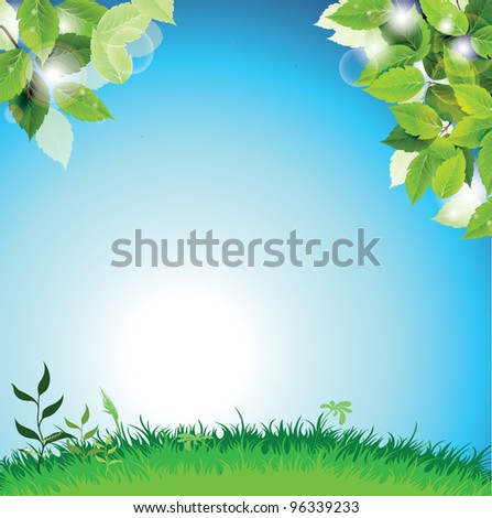 Field Template Background - stock photo
