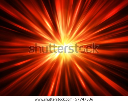 Fiery abstract blurred explosion - stock photo