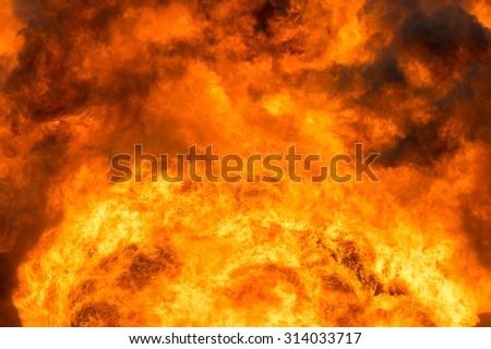 Fiery Background - stock photo