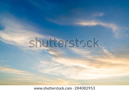 Fiery orange sunset sky. Beautiful sky.   - stock photo